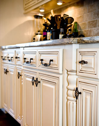 Luxurious design, contemporary look in cabinets